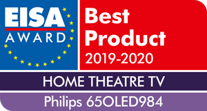 EISA AWARD for Philips 65OLED984: Home Theatre TV - Best Product 2019-2010